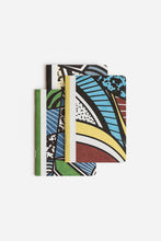 Load image into Gallery viewer, Papier Tigre - Set of 3 Notebooks - Ruled + Plain + Dot Grid - A6 (10x15cm) - Card Cover - The Three Patchworks
