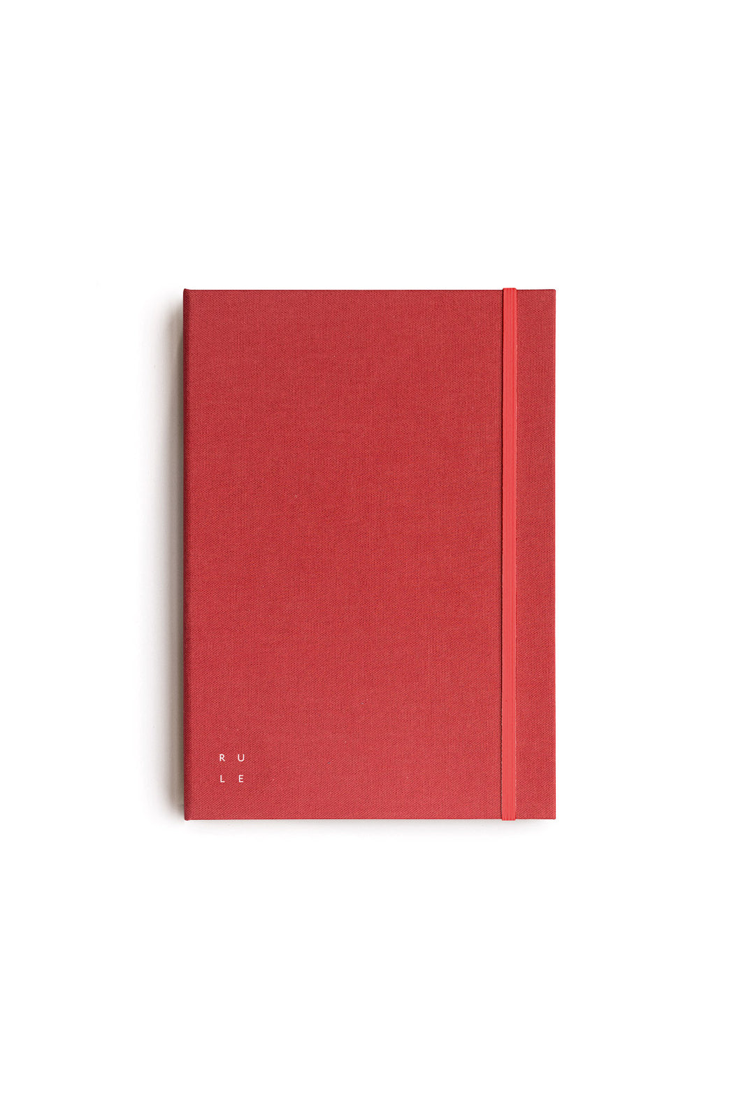 Milligram - Soft Cover Linen Notebook - Ruled - A5 - Red