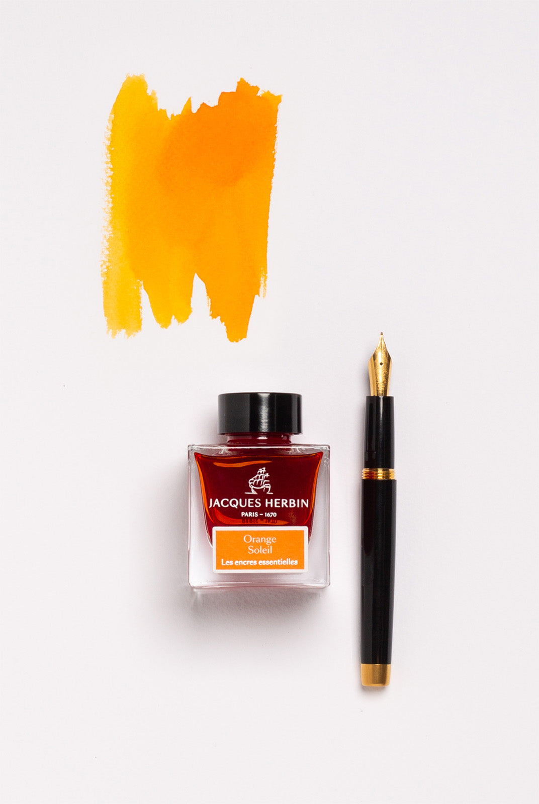 Jacques Herbin - The Essentials - 50ml Bottle Ink - Orange Sun (Orange Soleil)