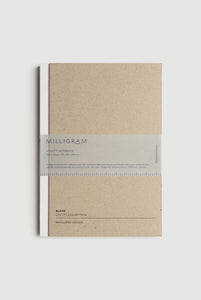 Milligram - Utility Notebook - Blank - B5 (25 x 17cm) - White