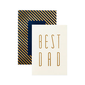 Katie Leamon - Single Card - Gold Best Dad