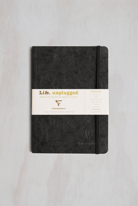 Clairefontaine - Life Unplugged Roadbook - Ruled - A5 (14x21cm) - Soft Cover - Black