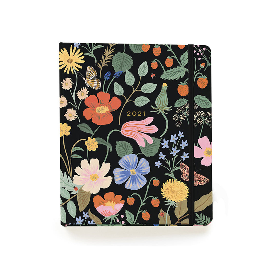 Rifle Paper Co - 2021 Covered Binder Planner - Strawberry Fields