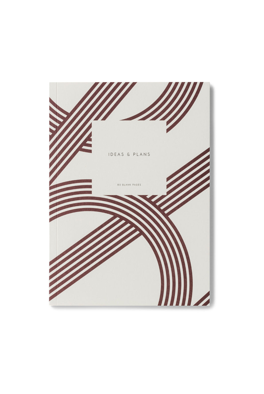 Kartotek - Lines Notebook - Plain - Medium - Bordeaux