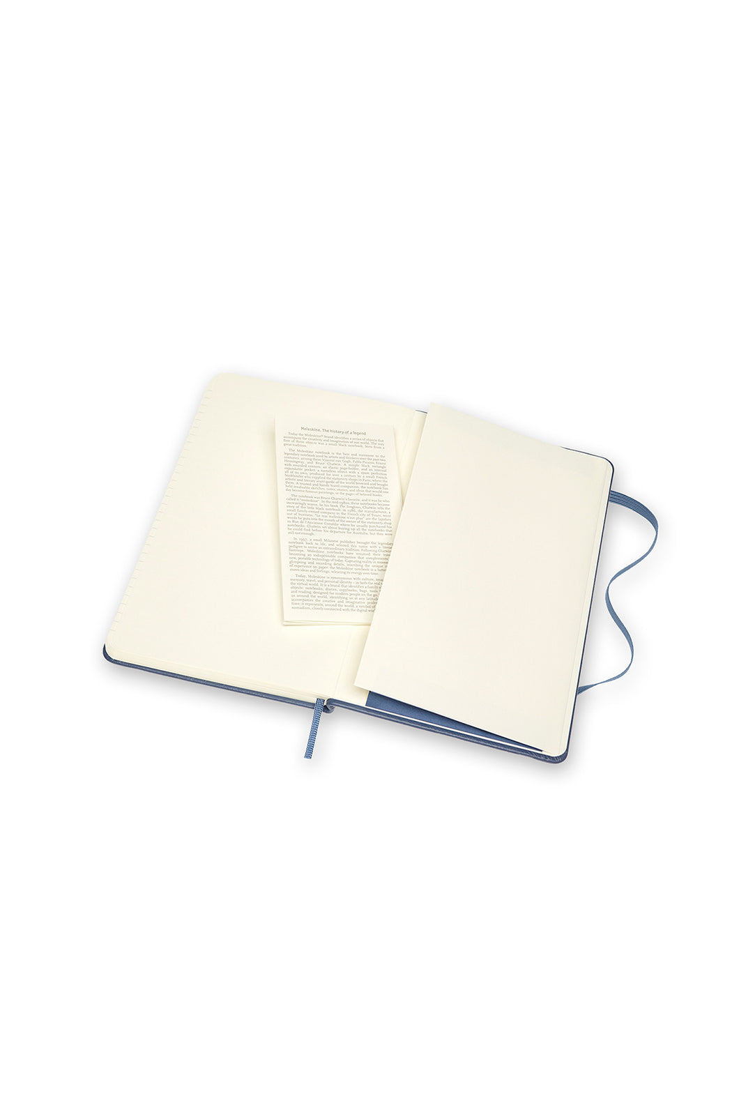 Moleskine - Limited Edition Classic Leather Hard Cover Notebook - Ruled - Large - Forget Me Not Blue