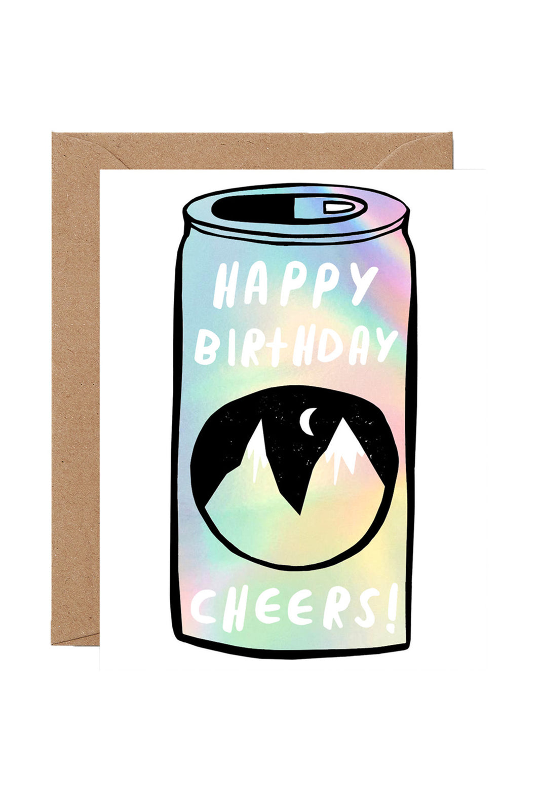 WRAP - Sandi Falconer Collection - Single Card with Foil - Birthday Beer Can