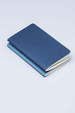 Load image into Gallery viewer, Fabriano Boutique - Notebook - Set of 2 - Plain - A6 (9x14.2cm) - Dark Blue & Light Blue