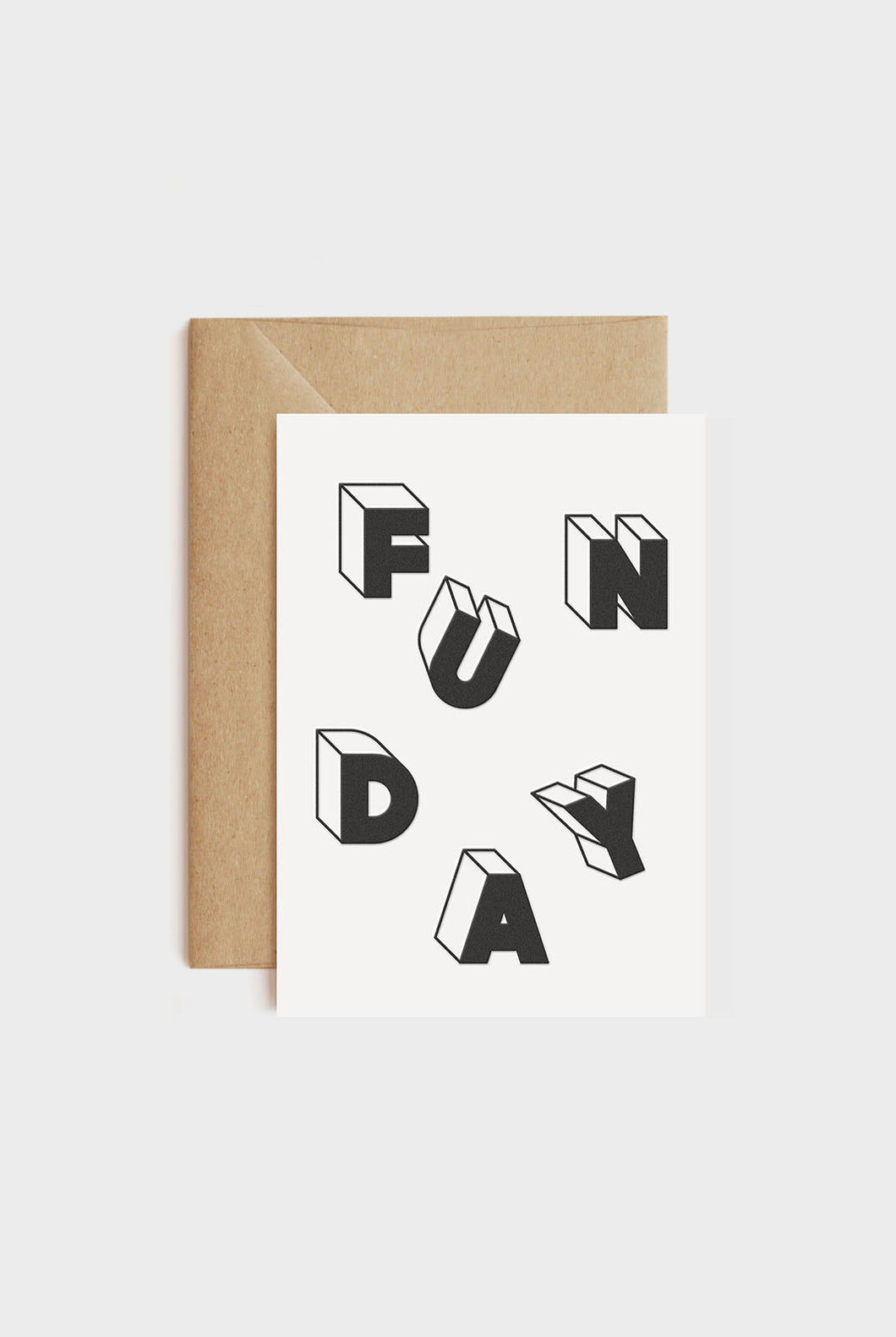 redfries - Single Letterpress Card - Funday