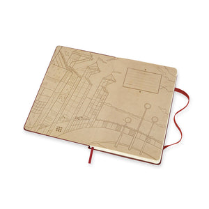 Moleskine - 2020 Limited Edition Harry Potter - Ruled - Large - Bordeaux Red
