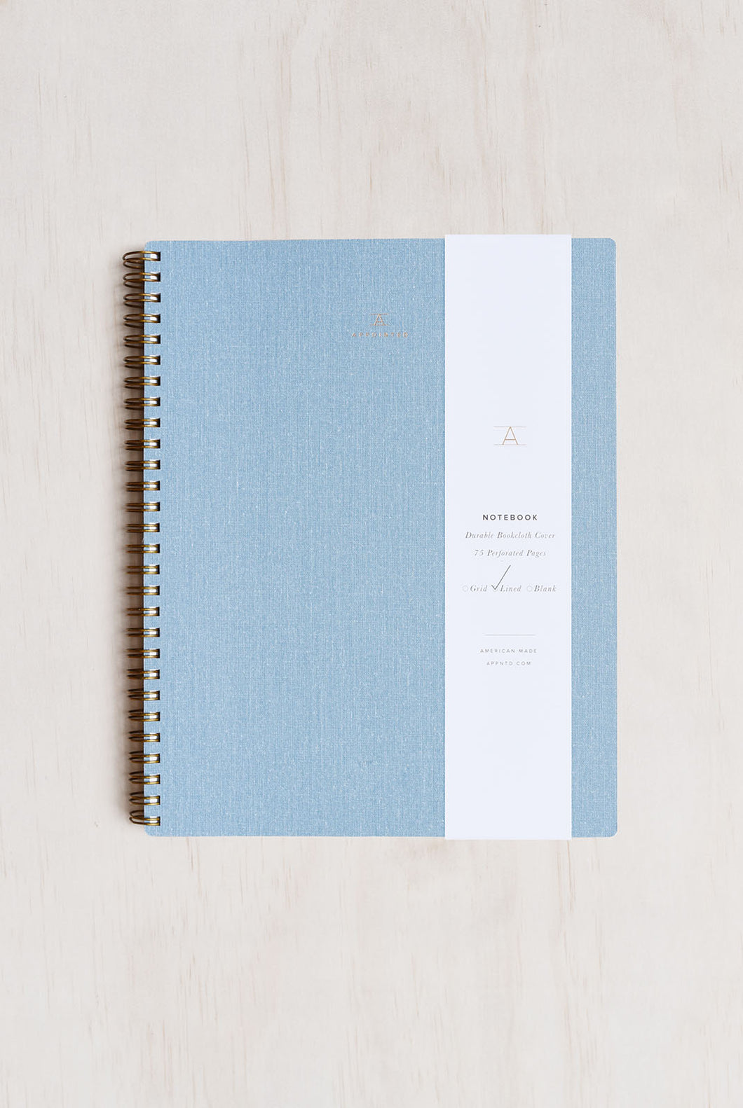 Appointed - Notebook - Ruled - Extra Large (19 x 24cm) - Soft Cover - Chambray Blue