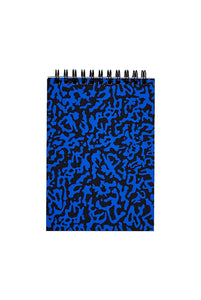 WRAP - Screen Printed Notebook - Ruled - Small - Ripple Blue & Black