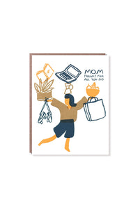 Egg Press - Single Card - Juggling Mom Thanks
