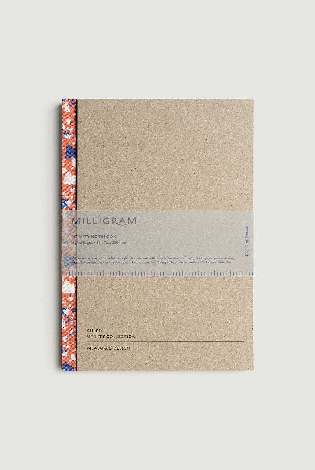 Milligram - Utility Notebook - Ruled - B5 (25 x 19cm) - Terrazzo Pattern