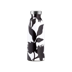 24Bottles - Botanique Collection - Clima Bottle - Stainless Steel Drink Bottle - 500ml - Black Dahlia