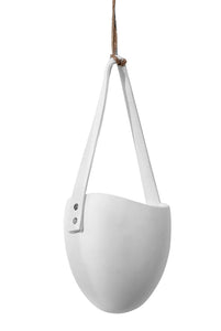 Serax - Pottery Collection - Hanging Oval Planter Pot with Handle - White