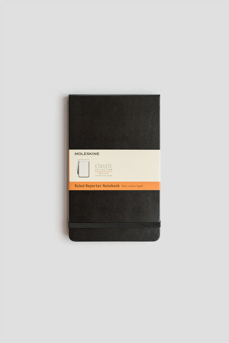 Moleskine - Classic Reporter - Large (13x21cm) - Plain Notebook - Black - Hard Cover