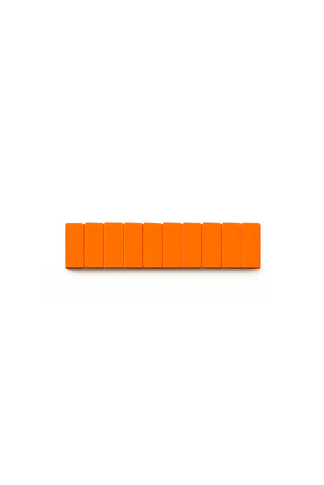 Palomino Blackwing - Pencil Replacement Erasers - Pack of 10 - Orange