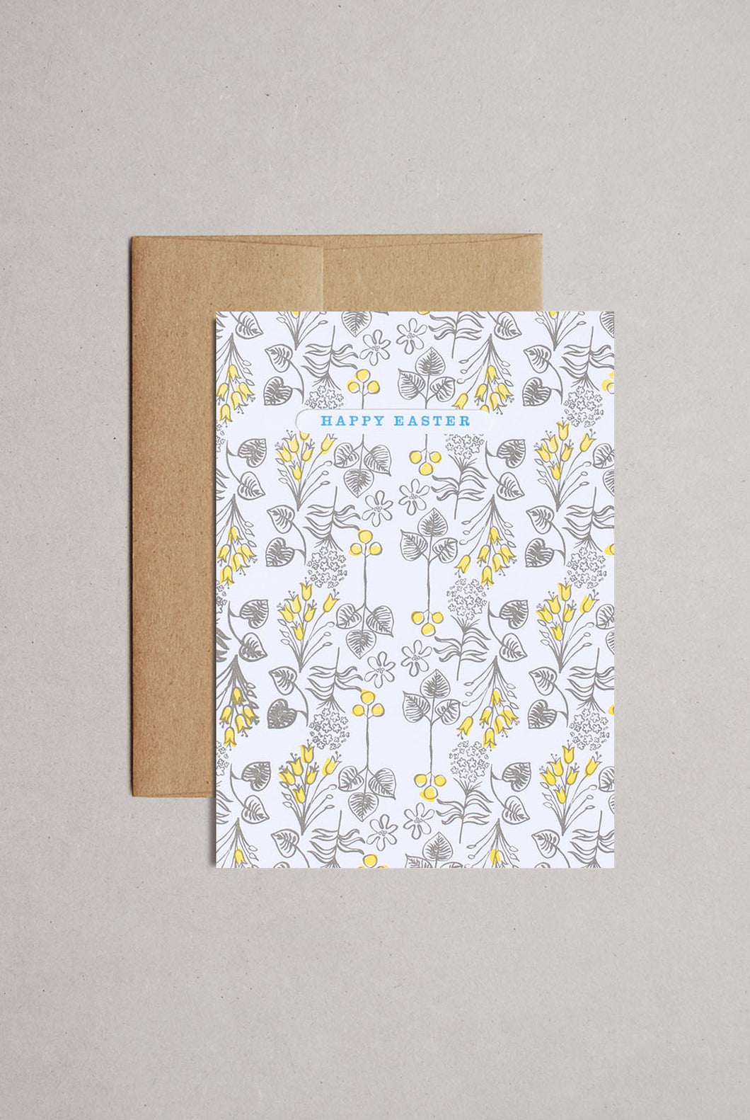 Egg Press - Single Card - Line Foliage Easter