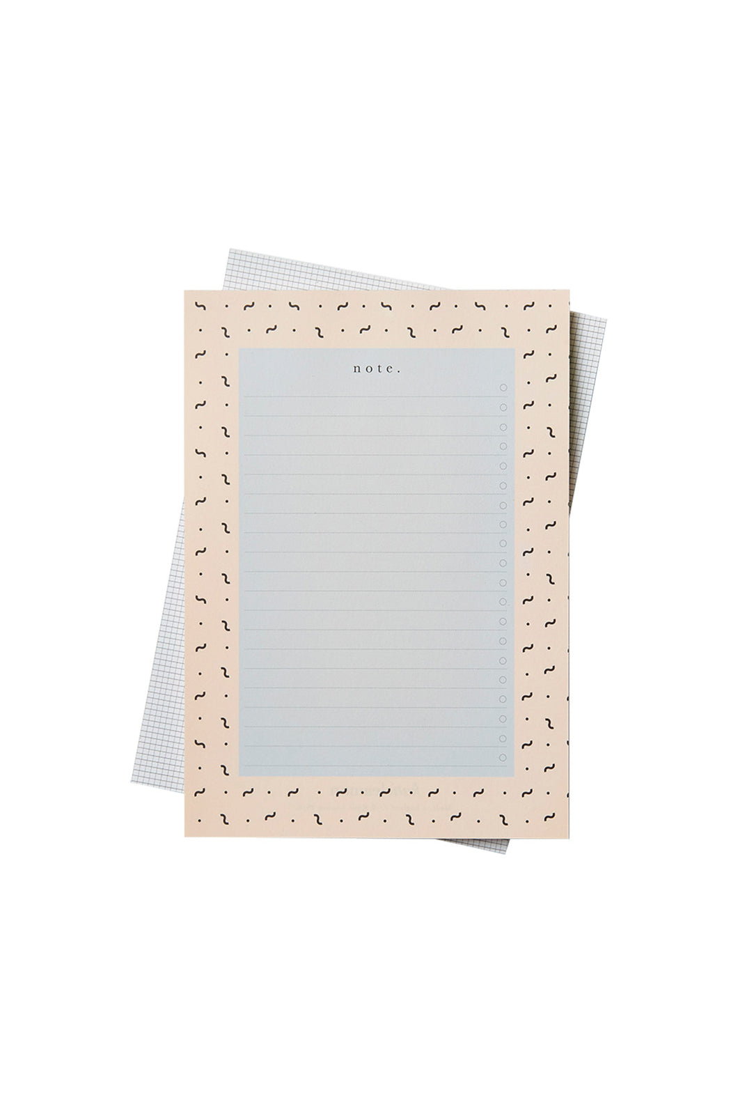 Katie Leamon - Notepad - Ruled - B5 - Pink & Grey