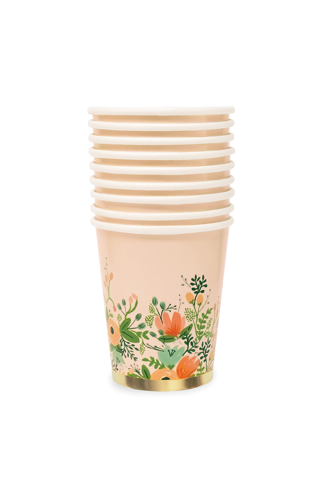 Rifle Paper Co - Paper Cups - Set of 12 - Wild Rose