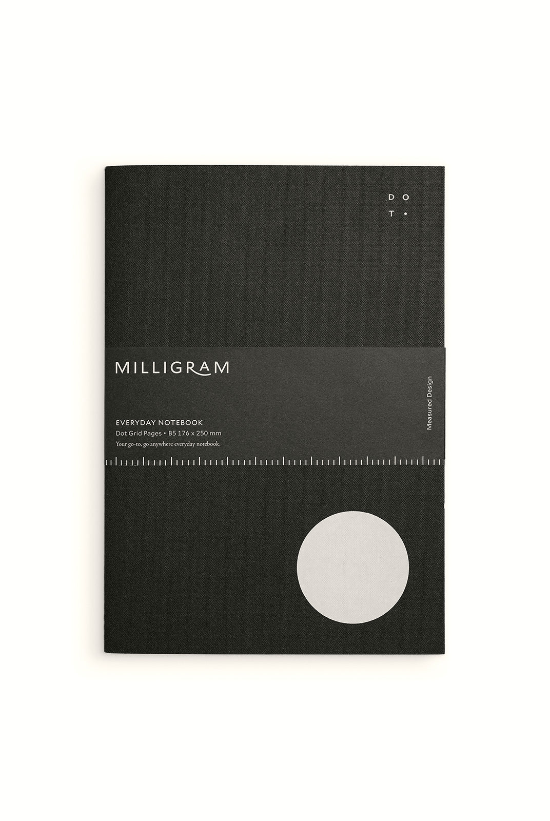 Studio Milligram - Everyday Notebook - Dot Grid - B5 - Black