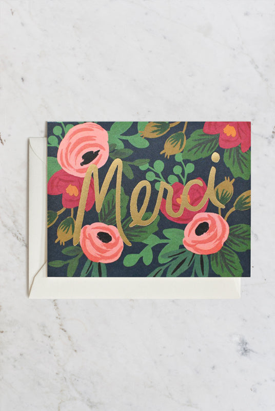 Rifle Paper Co - Single Card - Rosa Merci
