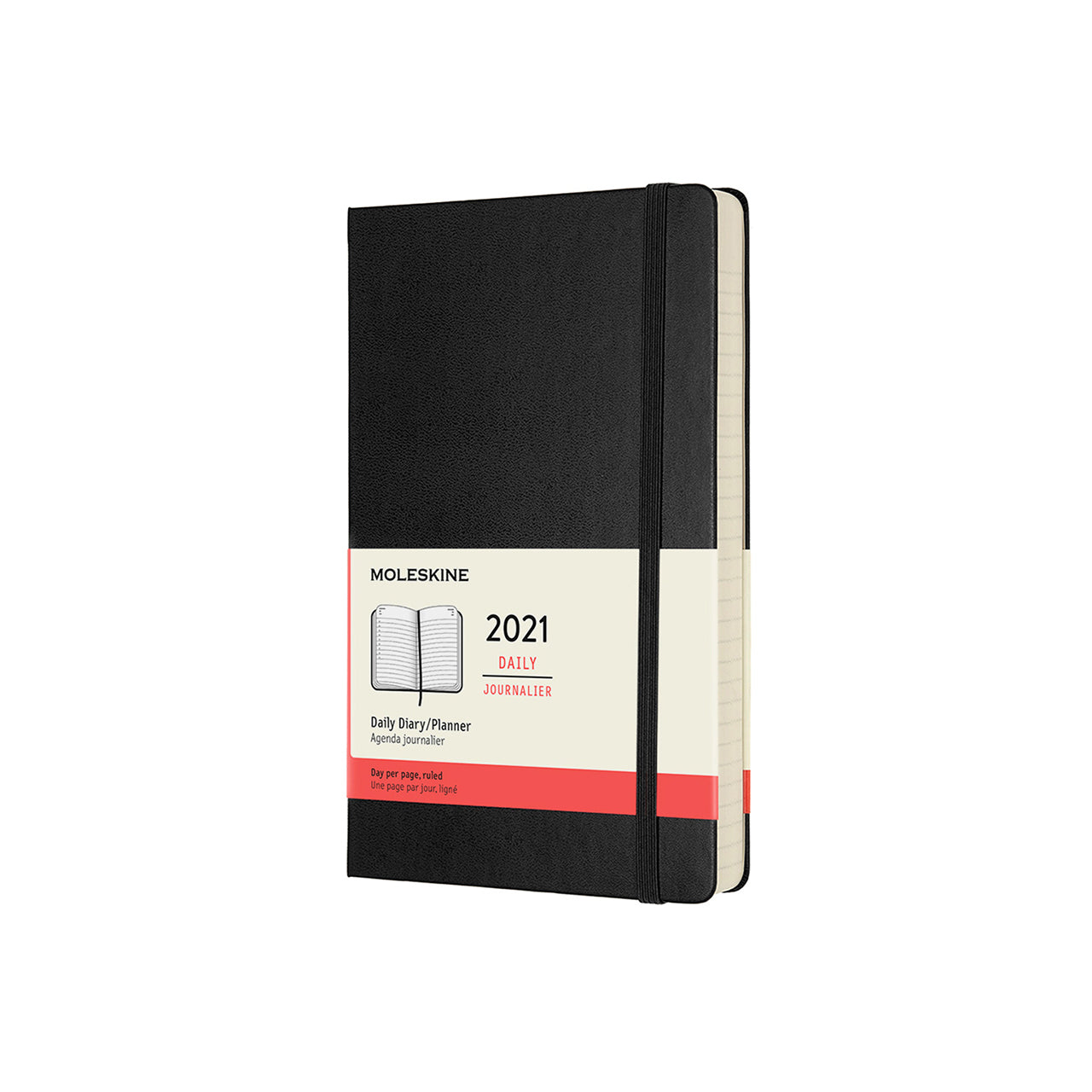 Moleskine - 2021 Hard Cover Diary - Daily - Large - Black