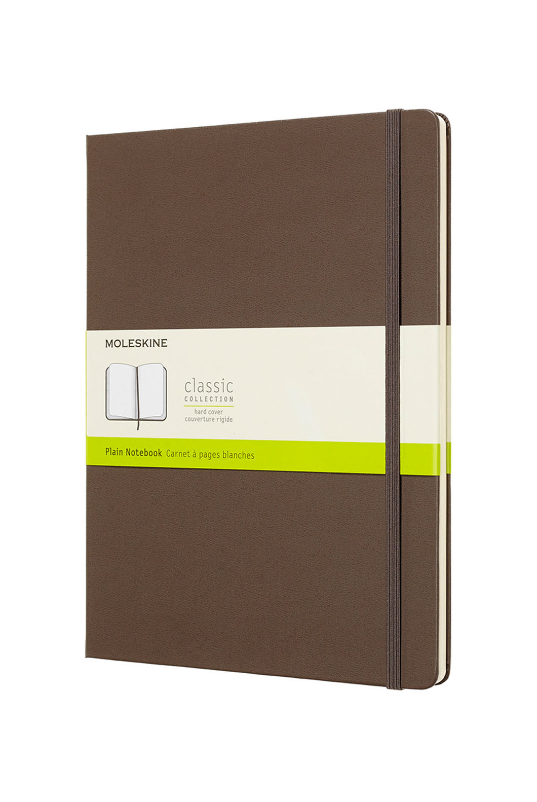 Moleskine - Classic Hard Cover Notebook - Plain - Extra Large (19x25cm) - Earth Brown