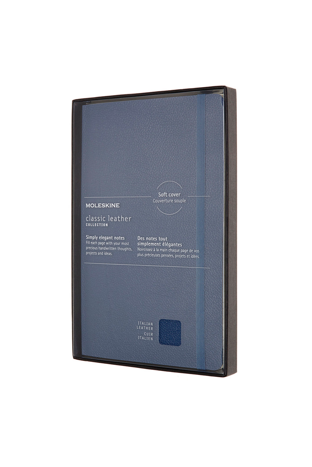 Moleskine - Limited Edition Classic Leather Soft Cover Notebook - Ruled - Large - Forget Me Not Blue