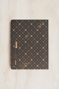 Rhodia - Heritage Notebook - Raw Bind - Ruled - B5 - Quadrille Black
