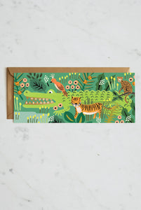 Rifle Paper Co - Single Long Card - Alligator Birthday
