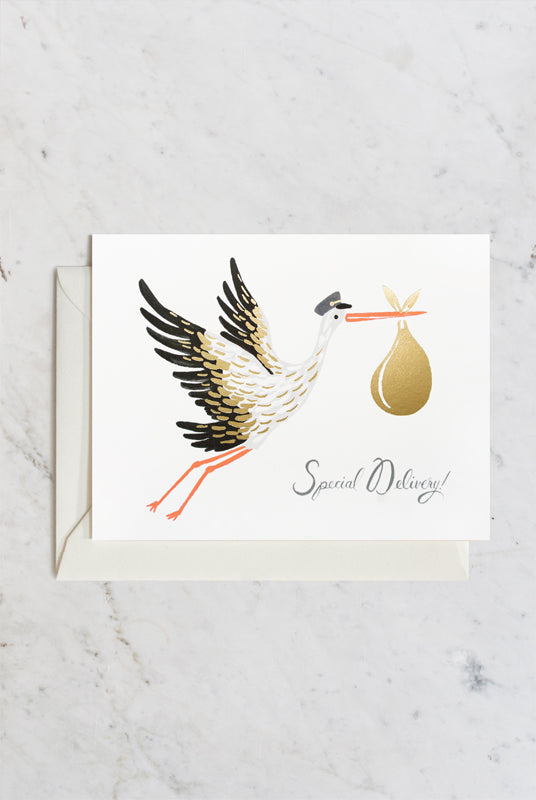 Rifle Paper Co - Single Card - Baby Stork