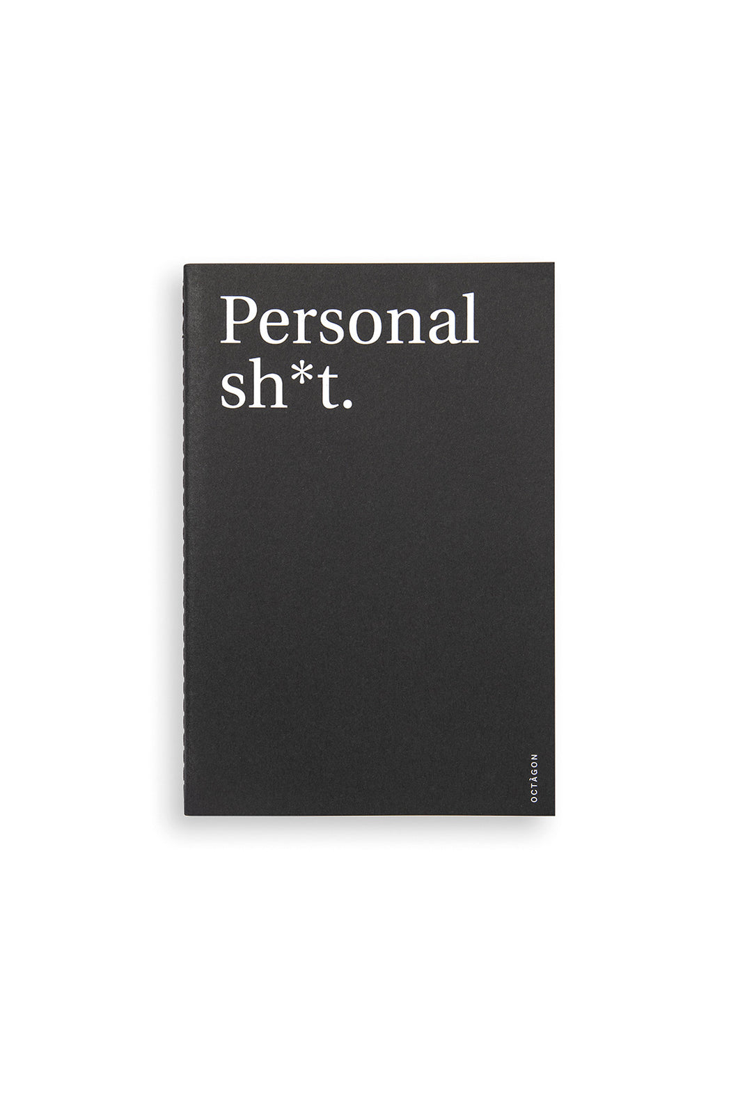 Octagon - Personal Sh*t Notebook - Dot Grid - A5 - Black