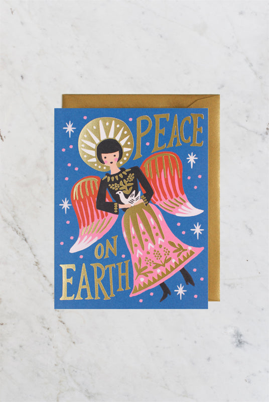 Rifle Paper Co - Single Card - Peace on Earth Angel