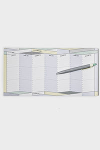 Papier Tigre - Weekly Undated Desk Planner - 15x30cm - The Course