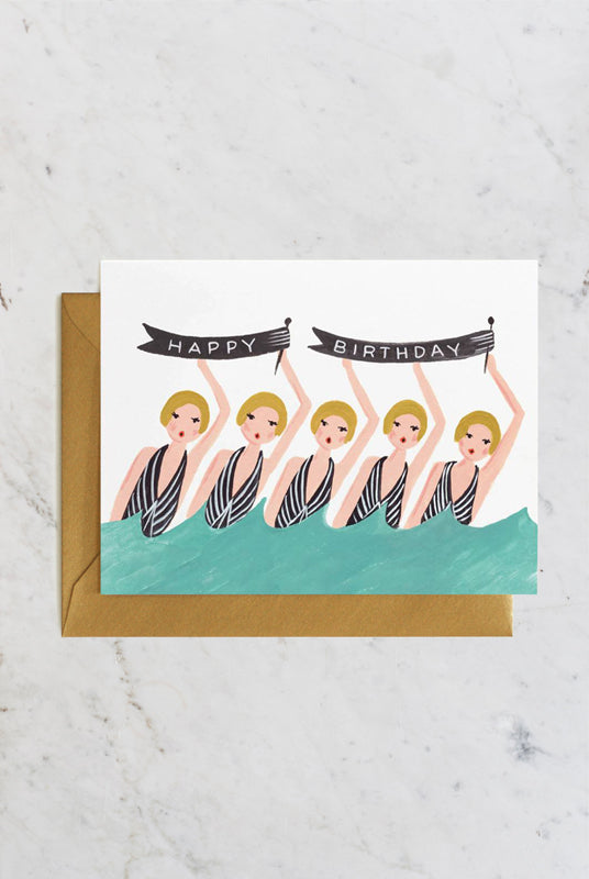 Rifle Paper Co - Single Card - Synchronised Happy Birthday