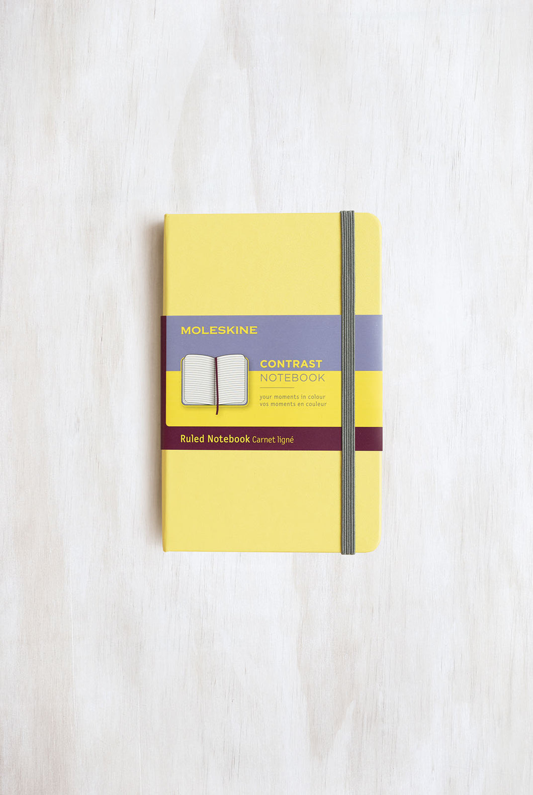 Moleskine - Limited Edition - Ruled Contrast Notebook - Pocket - Citron Yellow