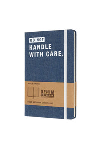 Moleskine - Limited Collection Denim Notebook - Ruled - Large (13x21cm) - Handle With Care