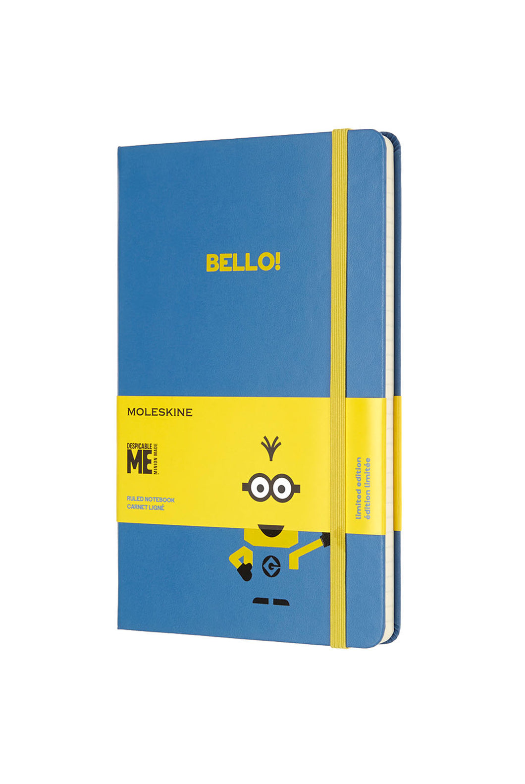 Moleskine - Limited Edition - Ruled Notebook - Minions - Large (13x21cm) - Blue