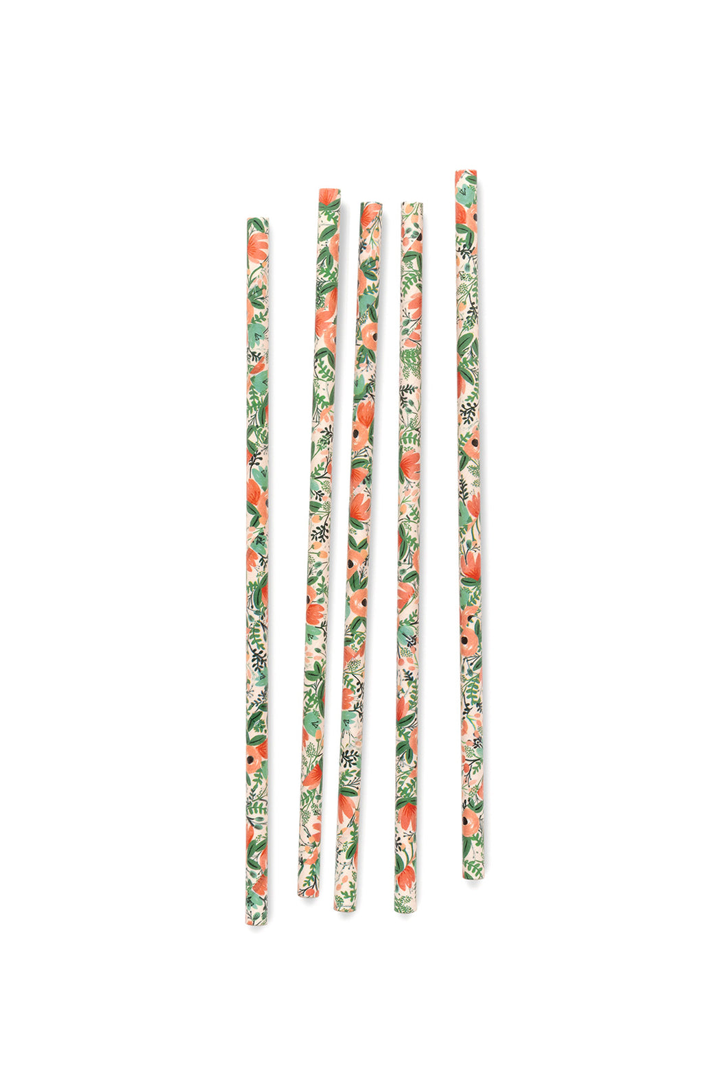 Rifle Paper Co - Paper Straws - Set of 25 - Wild Rose