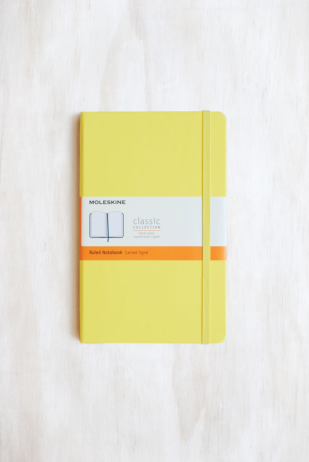 Moleskine - Classic - Hard Cover - Large (14x21cm) - Ruled Notebook - Citron Yellow