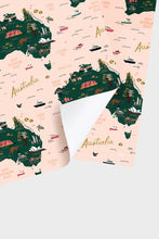 Load image into Gallery viewer, Rifle Paper Co - Gift Wrap - Single Sheet - Folded - Map of Australia