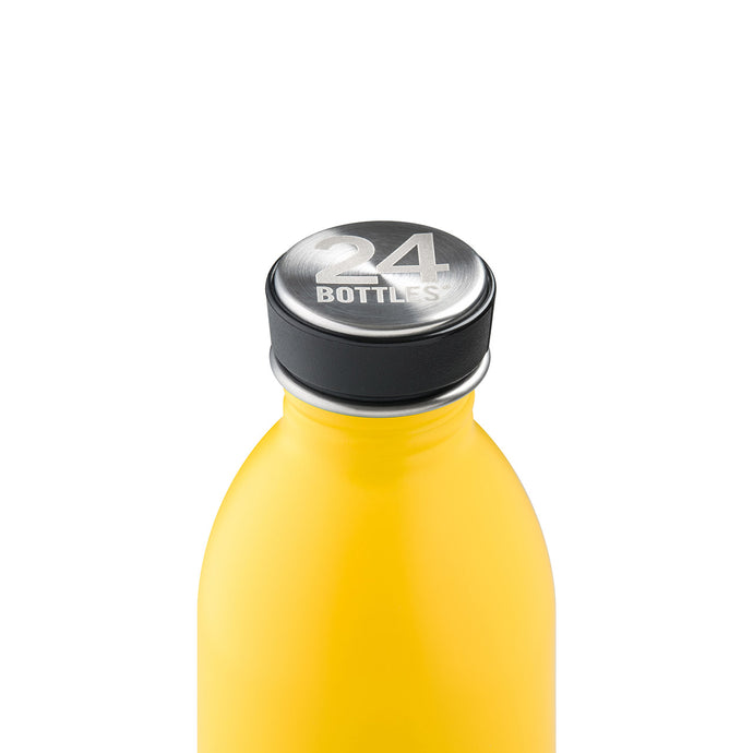 24Bottles - Chromatic Collection - Urban Bottle - Stainless Steel Drink Bottle - 500ml - Taxi Yellow