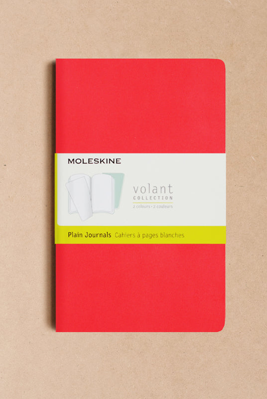 Moleskine - Volant - Set of 2 - Large - Plain - Geranium