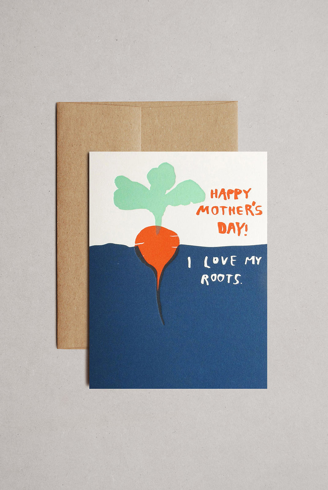 Egg Press - Single Large Card - I Love My Roots