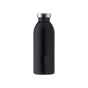 24Bottles - Basic Collection - Clima Bottle - Stainless Steel Drink Bottle - 500ml - Tuxedo Black