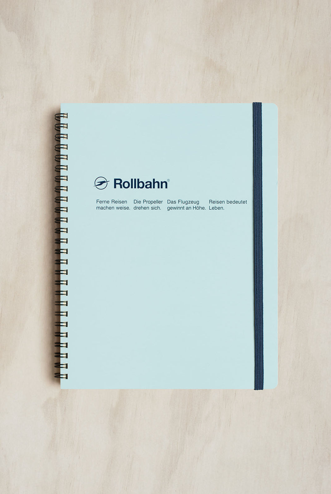 Delfonics - Rollbahn Notebook - Grid - Extra Large (21x26cm) - Sky Blue