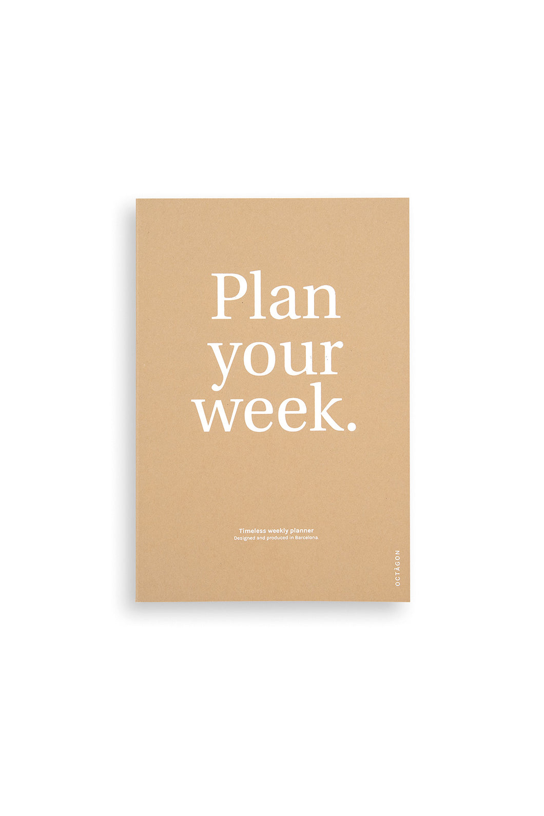 Octagon - Plan Your Week Weekly Planner - Undated - A5 - Kraft