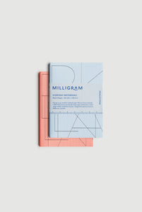 Milligram - Everyday Notebook - Set of 2 - Blank - A6 (15 x 10cm) - Peach & Blue