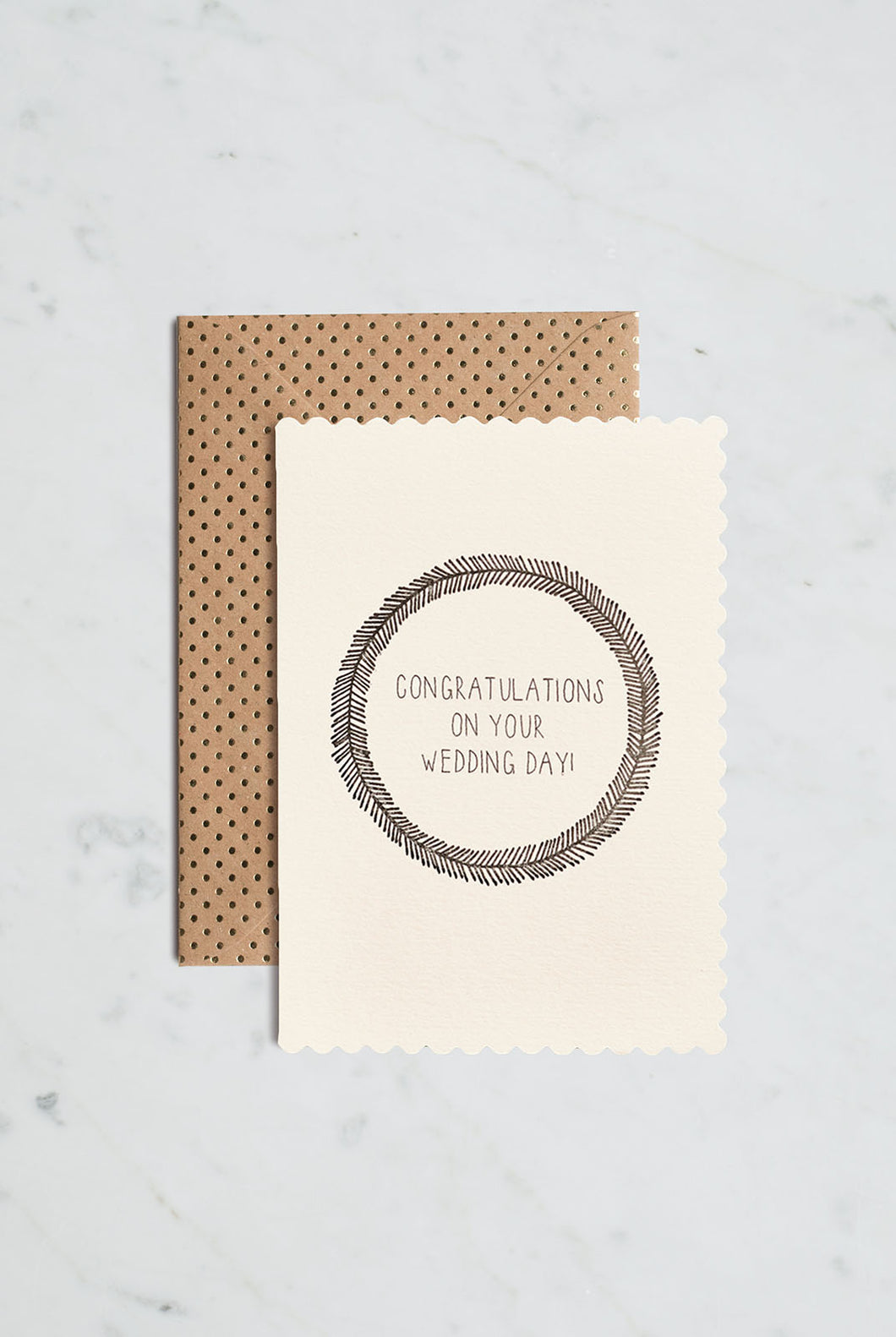 Katie Leamon - Single Card - Luxe Wedding Day Wreath